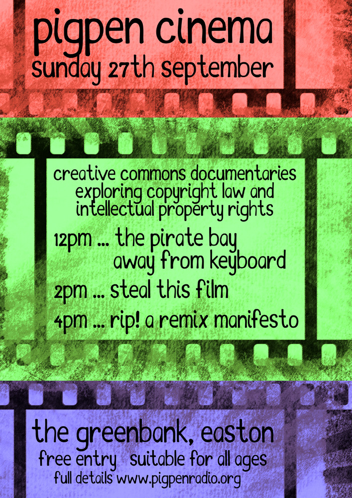 Pigpen Cinema 27 September 2015 at The Greenbank, Easton, Bristol